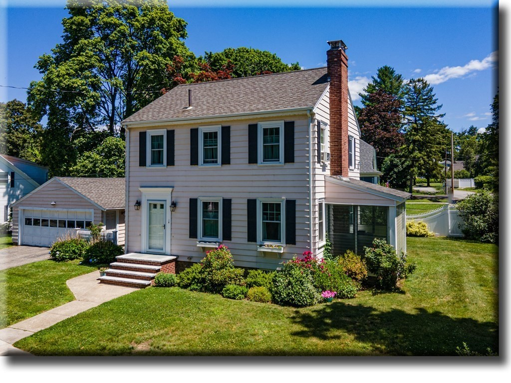 This impeccably maintained colonial in North Andover is the one you have been waiting for! Featuring sought-after amenities such as a new steam heat gas boiler, hardwood flooring, wood-burning fireplace, built-in cabinetry in the dining room, and new gas range & dishwasher - the heavy lifting has been done! With three bedrooms, one full bath, large living room and an effortless floor plan, you will feel right at ease in this comfortable home. Enjoy summer nights in the screened in porch with your favorite book or drink! Situated on a beautiful sun-filled corner lot with established landscaping and spacious two-car garage, there is nothing to do but appreciate all this wonderful home has to offer.