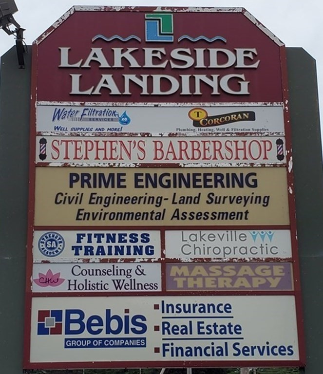 ****$13/ft******Lakeside Landing commercial space available. This 900 sq ft unit has high visibility from heavily traveled route 105. Formally a barbershop, this space can fit many different needs, including retail, office or mixed use. This lease includes taxes, building insurance, water, septic and maintenance. The unit also comes with available signage on route 105. There is plenty of parking for any type of business and recent improvements to the building and grounds only improve upon this building's already stellar reputation.