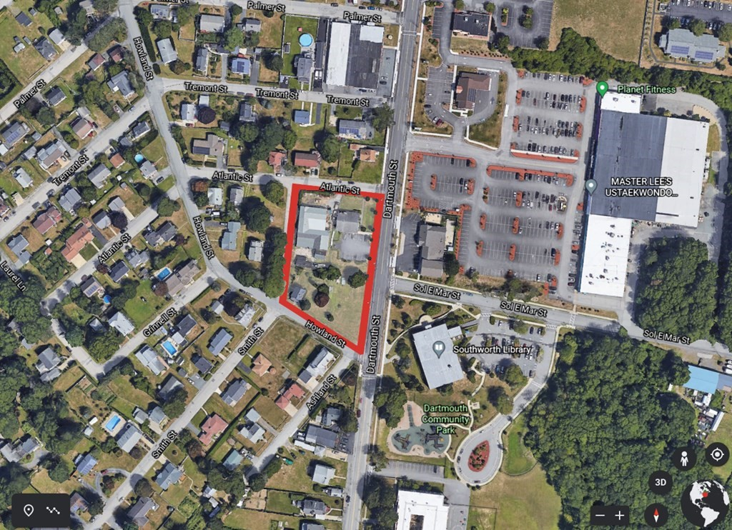 Excellent development opportunity. 1.21 acres located in the high visibility, high traffic count Bliss Corner Mixed Use District. This is an entire block on the west side of Dartmouth Street between Atlantic and Howland Streets. Move quickly, these opportunitnities don't come around very often.
