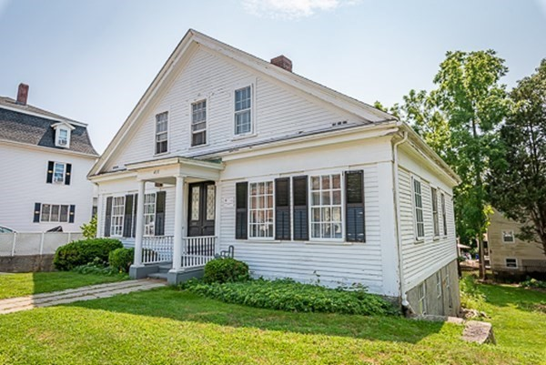 """Here is the chance to own your very own piece of history. The Robert Thompson House (c.1862) is located in the beautiful Historic Highlands of Fall River. Featured in the research exhibit of """"Seven Old Stories of Seven Old Homes"""", this property is rich in history, original charm and beauty and still has many of its original features (such as windows and floors) . The Greek Revival style home offers spacious rooms, an open flow floor plan throughout and high ceilings. As you tour the house, you'll notice unique features such as a tin ceiling, decorative moldings and a rear staircase. A large eat-in kitchen, several living areas, an office or bedroom and a half bath make up the first floor. The second floor holds four additional bedrooms and a full bath. There is ample storage throughout the unfinished walk-out basement and the rear yard offers a lovely garden area and plenty of space for relaxing. This home is full of potential...and with some TLC and updating, it will be a true gem."""