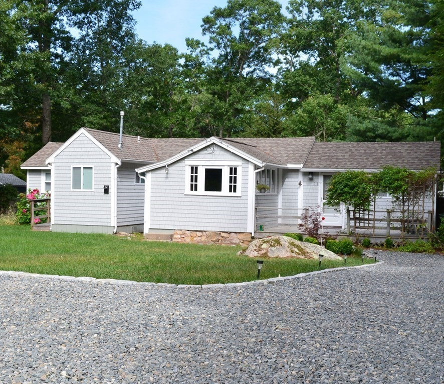 This perfect ranch is looking for its new owner.  Tucked Away on Private 1/3 Acre Lot and located a short walk to Dexter Beach - a private, members only beach. There is a playground and an area for kayaking, paddle boarding and swimming on the Weweantic River which leads directly to Buzzards Bay.  This charming home is open and airy, has two bedrooms, one bathroom and an amazingly large backyard – did someone say room for a pool?? It has Town water and Town sewer!! There are many updates, including a Mitsubishi mini-split that can be used for heating as well as air conditioning.  Seller has a mooring that can be transferred to new owner, subject to Harbormaster approval. This Quaint & Private Location is great for year-round Living or as a Summer Get-A-Way!