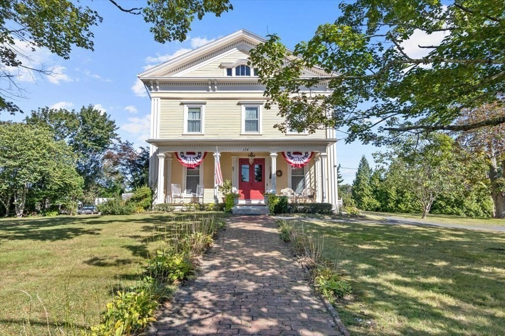 """1860 Greek Revival, lots of original detail,13 rooms offering 4-5 bedrooms,3 updated baths + powder room .3814sq' of living space, Including 3rm in-law apt w/separate entrance. main suite offers full bath and walk-in closet. Large formal dinning room, living room, family room, additional living room on second floor. Kitchen is updated with ample cabinets and fully applianced.Main formal stairway plus rear stairway to second floor and walkup full attic.Insulated windows and full insulation.front and side porches plus large decks for outside enjoyment. All on over 27,000 sq' corner lot. located in Historic Somerset Village. Once known as the """"Job Leonard House"""""""