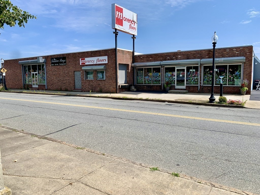 Prime Retail Space Available with Business Opportunity.  7,884 SF of the first floor available for lease with the option of operating the well established flooring business.  The pristine showroom is well-lit, organized and appealing for customers with a functional warehouse and loading dock located in downtown New Bedford with excellent visibility and highway access.  Call today for details, this opportunity will not last.  Other business uses welcome also to lease the first floor.  Owner/occupied lower level.  Offered at $8.50/SF NN (includes electricity).