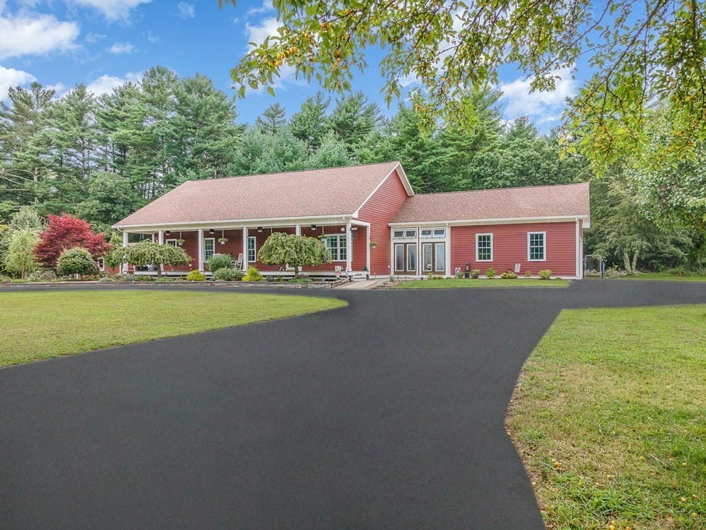 Open house 9/4/21 @12-2pm. Massive yard! Beautiful Ranch Built 9 years ago and no stone was left unturned! Starting With the exterior; 1.7 Acres property with 20+ car driveway. Low Maintenance Composite Siding. 2 Large Decks (at front and back of the home). Backyard is partially fenced in, with a large fenced in dog pen for your pets. Large patio with 3 custom designed exterior Fireplaces (2 Gas burning, all capable of wood burning). Making this perfect for your family gatherings, parties, or for a nice relaxing evening. Moving inside; large Open Concept with vaulted ceilings and hardwood floors throughout. Beautifully updated kitchen with granite countertops. Over overing the dining-room and living-room. 3 Spacious bedrooms on the main level and 4th guess bedroom on the second floor. Don't forget about your wonderfully designed Master Bedroom with walk-in closet and a custom designed bathroom. Not to mention both a 2-car detached and a 2-car attached garage for all your cars and toys.