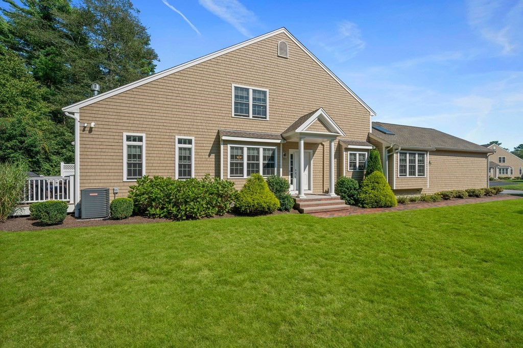 Welcome to Whitcomb Pines! Located toward the end of cul-de-sac for ultra privacy and abuts town forest w/direct access to trails. Close to commuter rail, highway access & all SCITUATE'S BEST~beaches, harbor, restaurants, boutiques, etc. This custom designed townhouse offers carefree living with a single family vibe! You'll be greeted by a bright, open floor plan Dining Rm and Living Rm featuring hardwood floors, cathedral ceiling, skylights, gas f.p. & slider to large private deck. The Kitchen is perfection with granite, s/s apls, under cabinet lighting is a chefs dream & has separate breakfast nook w/skylight. 1st floor Owners Suite complete w/huge walk in closet & full Bath with double vanity. A large Home Office, 1/2 Bath & Entry Room w/Laundry leading to 2 car garage completes the main level. 2nd level features 2 Bedrooms, one with large walk in closet, as well as a loft style Family Rm and huge Media Room perfect for home school, 2nd office, etc. NOT an age restricted community.