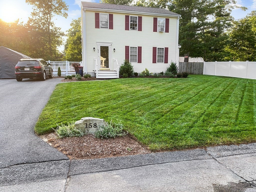 Impeccable Colonial! Seller has updated most of the home within the last 2 years!  Kitchen w/new cabinets, granite, stainless steel appliances & HW floors. Large dining area w/slider that leads to a beautiful 300 sq ft paver patio w/firepit. Private fenced in backyard with shed.  10 x 15 trex deck off of the kitchen side door entrance.  LR has beautiful HW floors and gas fireplace. Half bath & convenient laundry on the first floor. Second floor has three large bedrooms with ample closet space in each & Two closets in MBR. Full bath totally renovated w/in last year: subway tile, granite vanity, recessed lights & shiplap. Basement is finished ready for playroom/office/exercise room.  Driveway has ample parking. Irrigation system. Transfer switch/plug in place for future generator.  Walk to Glen Charlie Pond- great for boating, fishing kayaking or relaxing. Area offers plenty of shopping, restaurants, golf courses, fresh and saltwater beaches. Easy access to 495/25 and Cape bridges