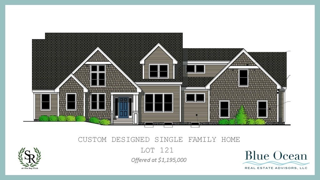 New Construction!  This four bedroom  single family home located in the Bay Club of Mattapoisett is designed for modern and comfortable living. An open first floor plan features a two-story vaulted family room w gas fireplace, skylights, & custom shelving with French doors leading to a generous, private and serene deck. The chef's kitchen opens to the dining area and will boast stainless steel Bosch appliances, quartz countertops, walk in panty, wet bar & large center island. First floor master suite w hardwood floors and vaulted ceilings has lux spa bathroom w soaking tub, tiled shower w glass doors & radiant heat. A generous mudroom is off the three car garage, and laundry area and private office completes the main level. Upstairs there are three generous bedrooms w loft area. The home abuts the Tinkham Forest in the rear to create a private setting.  Delivery in Nov 2021. Love where you live and enjoy the natural beauty of the Bay Club.
