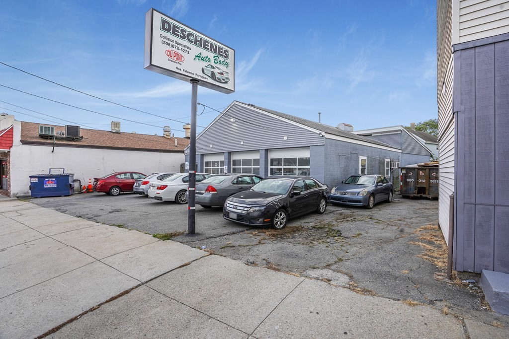 Come take a look at this well-known auto body shop located on one of the main roads in Fall River, MA. This shop is a little over 3,000 sq/ft making plenty of space for all of your needs. You can find an office space with a half bath for customers. The seller is willing to sell the business, licenses, equipment, and supplies along with the property. The seller is also willing to sell just the business, licenses, equipment, and supplies with a rent-back opportunity. Buyer and buyers' agent to verify all information. Information deemed reliable but not guaranteed.