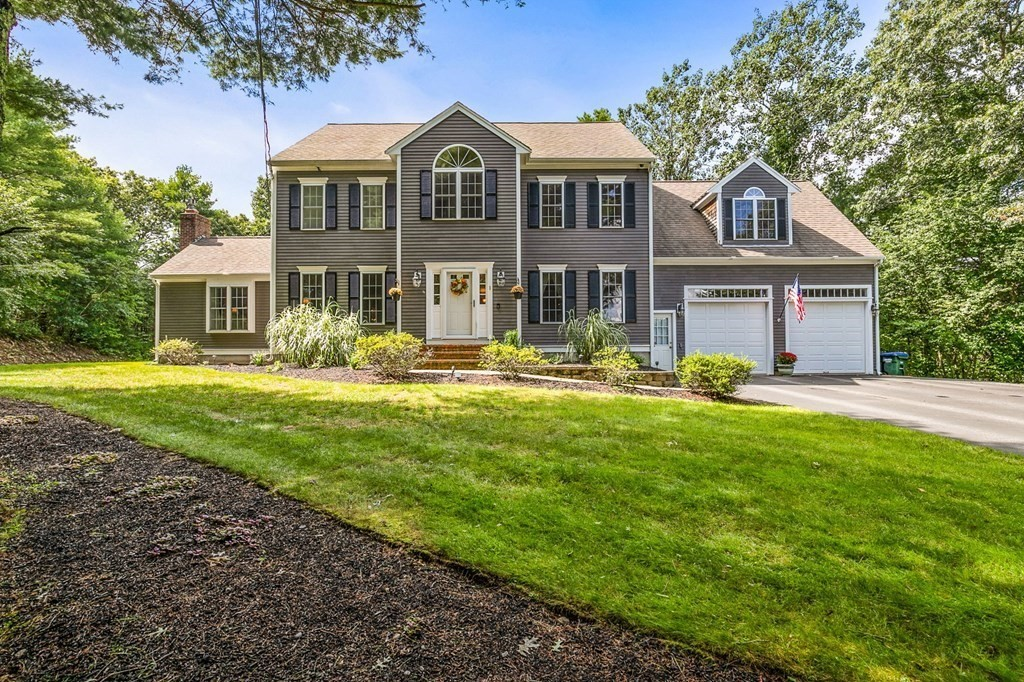 This stunning spacious 4BR colonial set on 4-plus acres on 2-home cul-de-sac in fantastic neighborhood has been meticulously maintained.First floor offers hardwood & crown molding throughout granite eat-in kitchen w/ island, formal dining & living room.Family room w/ cathedral ceiling has gas fireplace, & built-in speakers. 4 spacious bedrooms upstairs w/ add'l option of a 2nd master above garage.This bonus room has its own full bath & separate access stairs from garage. You won't want to leave the house when you see the professional in-home 4K movie theater with stadium seating & premium sound. More space in basement with play room, and separate 3rd finished room for office/studio/study. Oversized garage comes with car-lift & extra storage built-in. Space in backyard previously cleared could be your field of dreams. This home has it all: Whole house automatic generator, security system, nest controlled heat, central a/c, walkup attic, irrigation, brand new water filtration and more!