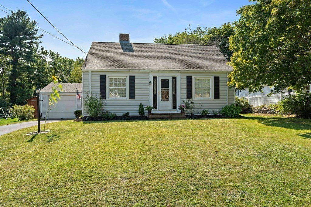 Multi offer situation,  A must see, this charming updated 3 bedroom 1.5 bath Cape features hardwood floors and updated windows. In 2018 a new gas line was added and in 2019 a new HW heater, new heating system, and new 200 amp electrical service. In 2020 a new roof & so much more! A meticulously maintained & cared for home that is move in ready! The first floor offers a relaxing fire placed living room with builtins, a bright open kitchen with dining area & custom builtins. The first floor master bedroom w/half bath opens to a home office/den or playroom area. Upstairs find one nicely sized bedroom & attic area that could be expanded into another room. Large open unfinished basement for added storage space or future plans! The backyard is spacious & full of potential! Garden, relax, entertain! One car attached garage & off street parking with 2 separate driveways.This fantastic location offers easy access to all major highways, shopping, dining & public transportation