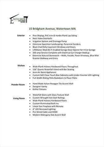 15 Bridgham Avenue Watertown MA 02472