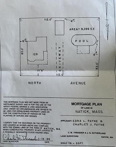 129 North Avenue Natick MA 01760