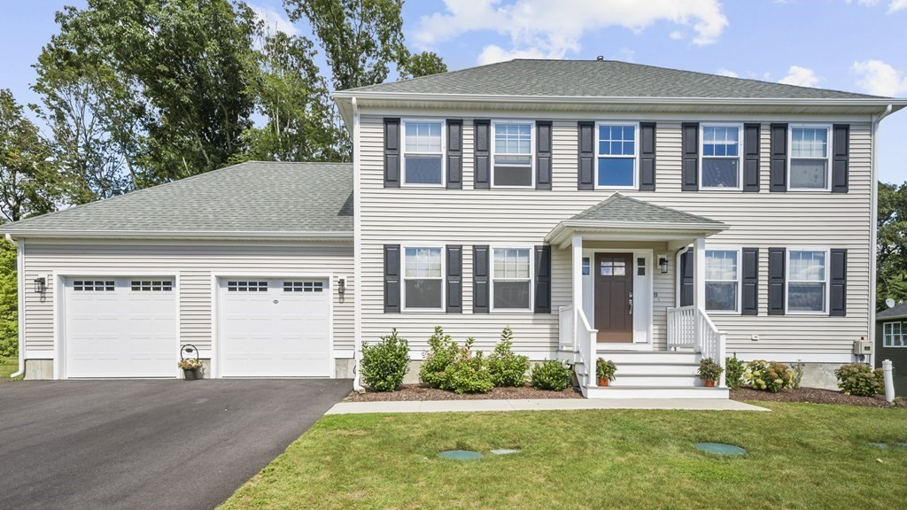 Check out this gorgeous, young, 3-bedroom colonial home located in Jacob Hill Estates in South Seekonk; complete with 2-car garage and a beautifully landscaped yard with irrigation!  Step inside to be greeted by a sun-filled family room and an inviting living room with gas fireplace; both rooms feature neutral colors, crown molding, rich hardwood floors and recessed lighting. The kitchen boasts granite countertops, white shaker cabinets, an island with pretty pendants, and stainless-steel appliances. Just off the kitchen is the dining room with slider allowing access to a peaceful backyard with sitting deck and patio; a perfect combo for grilling and entertaining. Upstairs you will find the master bedroom with extra large walk-in closet and full master bath, 2 additional bedrooms and another full bath. Other notable features include: 1st floor laundry & ½ bath, central vac, composite deck/porch, & walkout basement with tons of potential to finish for additional living space.
